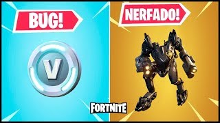 BUG OF V-BUCKS at FORTNITE, NERFADO GROSS and SKIN BAO!