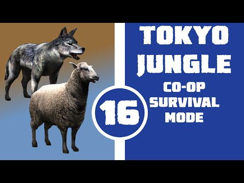 Let's Play Tokyo Jungle Co-op (Survival Mode) Part 16 - A Wolf in Sheep's Clothing (Wolf and Sheep)