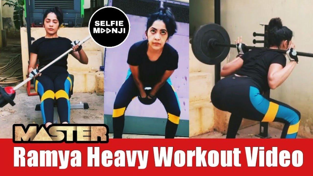 வலுவான உடற்பயிற்சி Master Ramya Heavy Workout Video | Ramya Subramanian Workout | Selfie Moonji