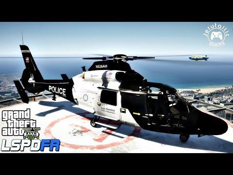 GTA 5 MODS LSPDFR #44-  Police Helicopter Patrol in Los Santos (GTA 5 POLICE MOD)