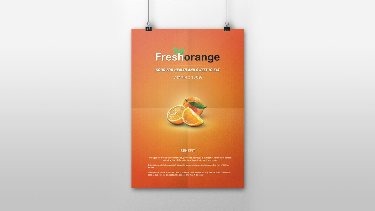 Poster design health - Product Advertising Poster Design In Photoshop Cc