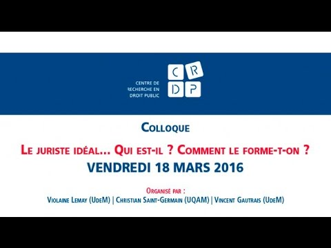 Colloque: «Le juriste idéal» - Panel 3