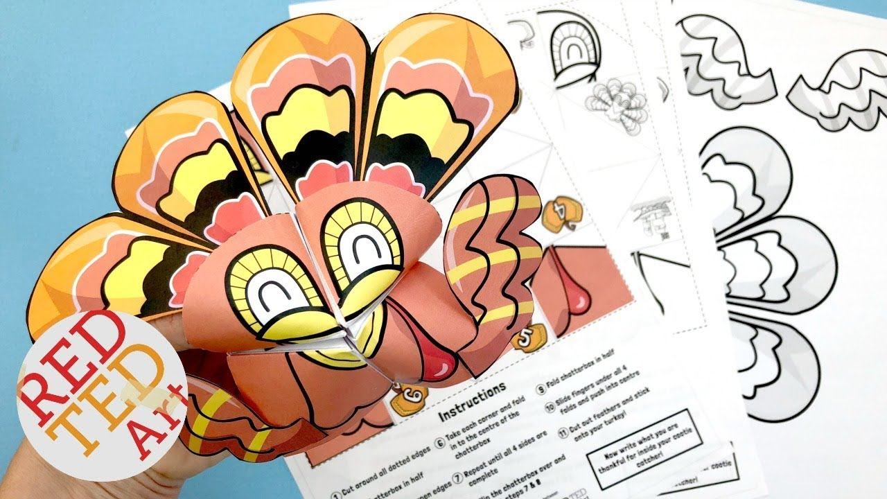 photo regarding Cootie Catcher Printable known as Turkey Cootie Catcher - No cost Thanksgiving Printable