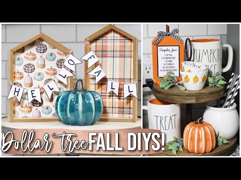 Dollar Tree Fall DIY Decor! | YES already! :) July 2019
