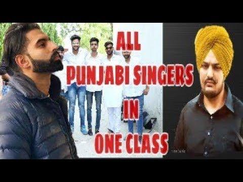 sidhu-moose-wala all-punjabi-singers-in-same-class- parmish-verma-mika-singh -hunter-boyzz