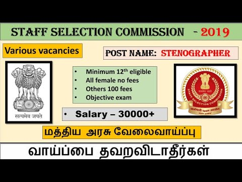 staff selection commission jobs Minimum 12th eligible