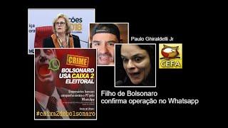 Filho de Bolsonaro confessa o crime do Whatsapp cometido por seu pai