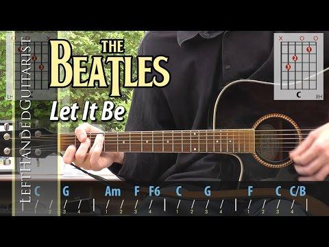 The Beatles - Let It Be   acoustic guitar lesson