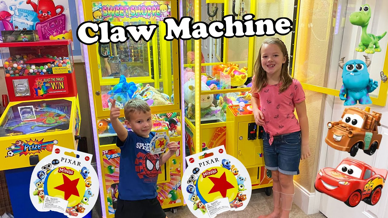 2 Claw Machines Full of Disney Pixar Blind Bags