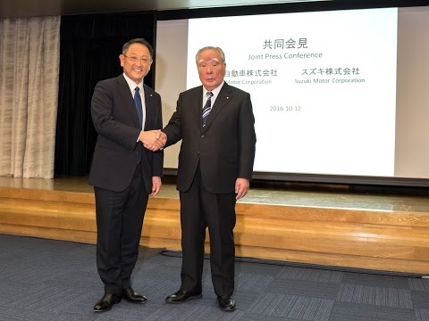 Joint Press Conference by Toyota Motor Corporation and Suzuki Motor Corporation