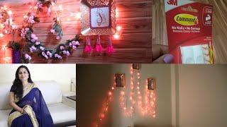 (हिंदी) 5 Amazing & Easy DIY Decoration Ideas- Renter Friendly Wall Decor Using 3M command Hooks