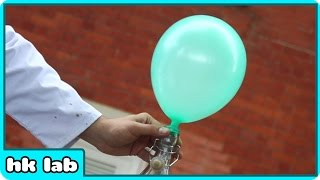 Look at this Balloon! Now Look How I Make it Float in air without Helium - LAB 360