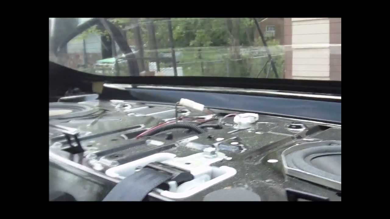 2009 Nissan Altima (Rear Deck Removal) - YouTube