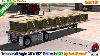 "[""ATS"", ""American Truck Simulator"", ""mods"", ""modifications"", ""trailer mod"", ""Transcraft Eagle 48'x102"", ""by Jon Warrell"", ""Dro Modding""]"