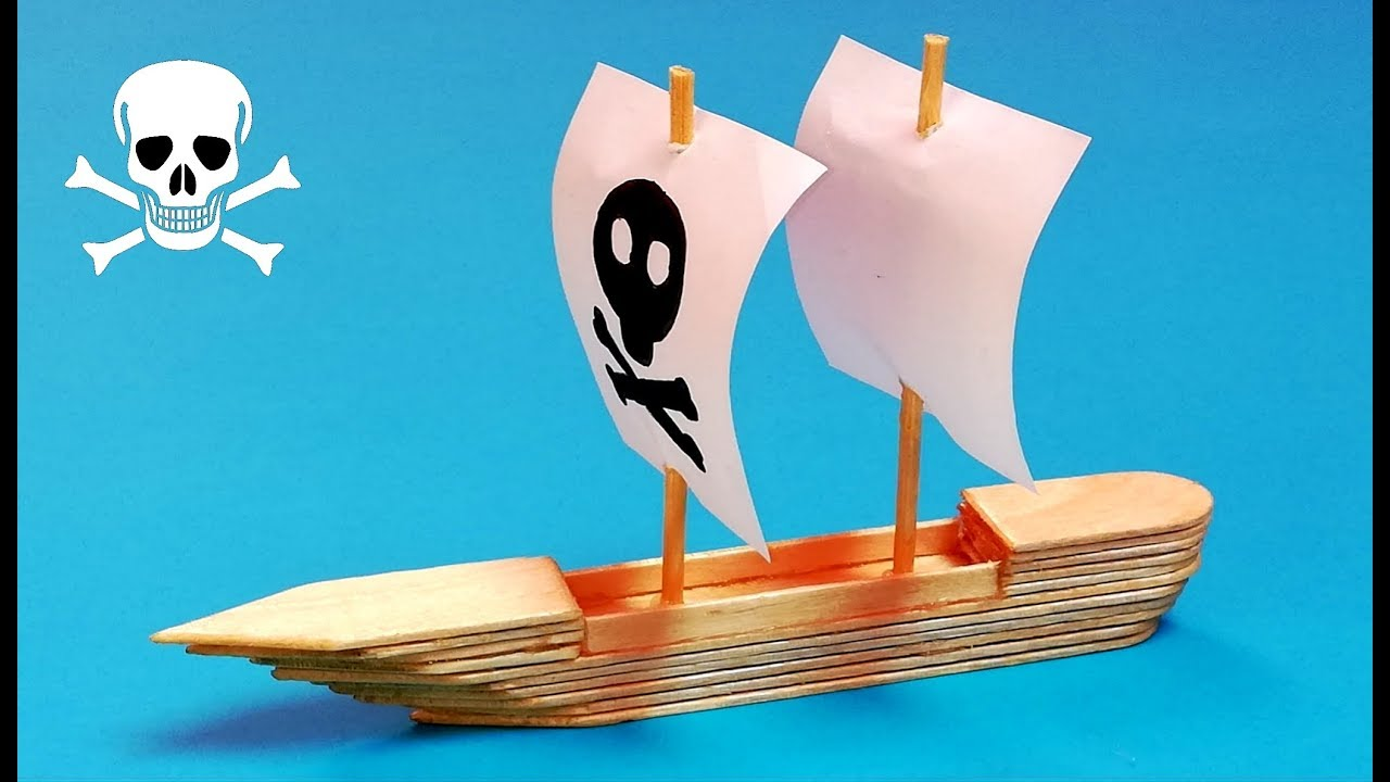 Barco Con Palitos De Helado Cómo Hacer Un Barco Paso A
