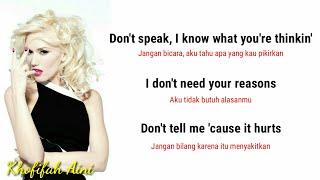 No doubt - don't speak (lyrics + terjemahan indonesia)