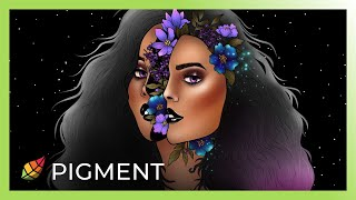 Digital Coloring with Pigment   Midnight Fantasy   Tutorial