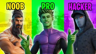NOOB vs PRO vs HACKER in Fortnite #62