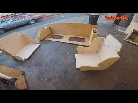 Making a boat seats out of wood and upholster with marine vi