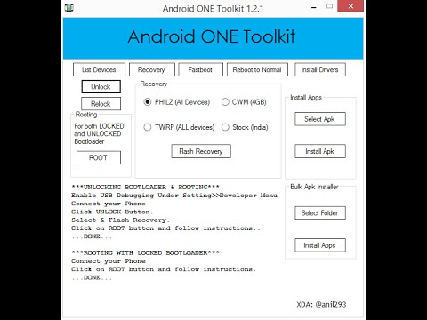 [Custom recovey] Unlock Bootloader And Root Canvas A1 Or Any Android One  (4 4 4, 5 1 & 5 1 1)