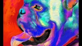 Contemporary Dog Portrait Paintings by Russian artist Svetlana Novikova pictures