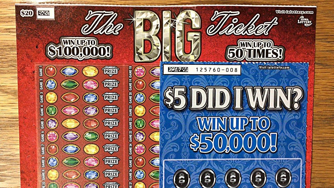 $20 The BIG Ticket + Did I Win? Iowa Lottery Scratch Offs