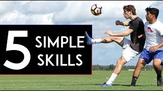 5 SIMPLE First Touch SKILL MOVES to Beat Defenders