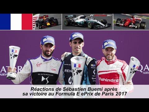 Interview de Sebastien Buemi après sa victoire au Paris ePrix 2017