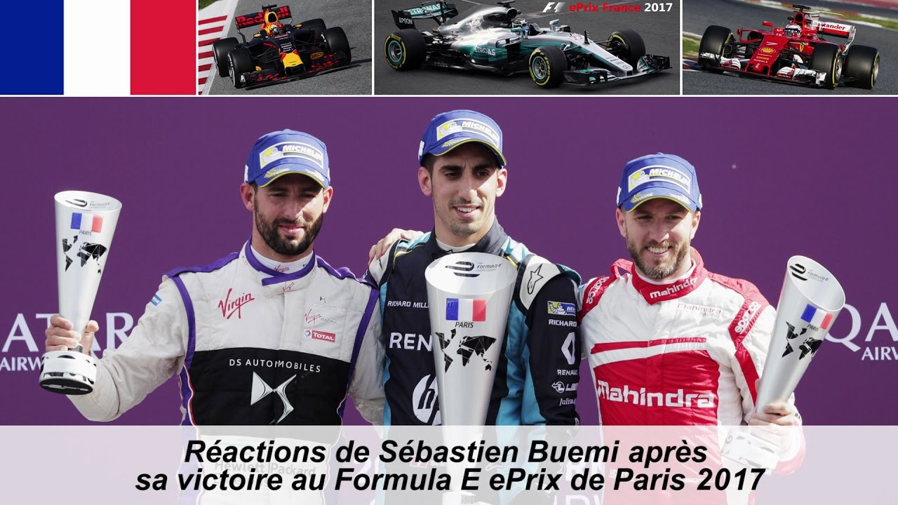 interview de sebastien buemi apr s sa victoire au paris eprix 2017 youtube. Black Bedroom Furniture Sets. Home Design Ideas
