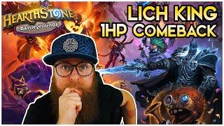 1HP Comeback ● Lich King ● Hearthstone Battlegrounds ● Hearthstone