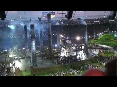 Olympics Opening Ceremony. The arrival of the industrial revolution.