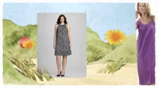 Платье-трапеция для полных женщин
