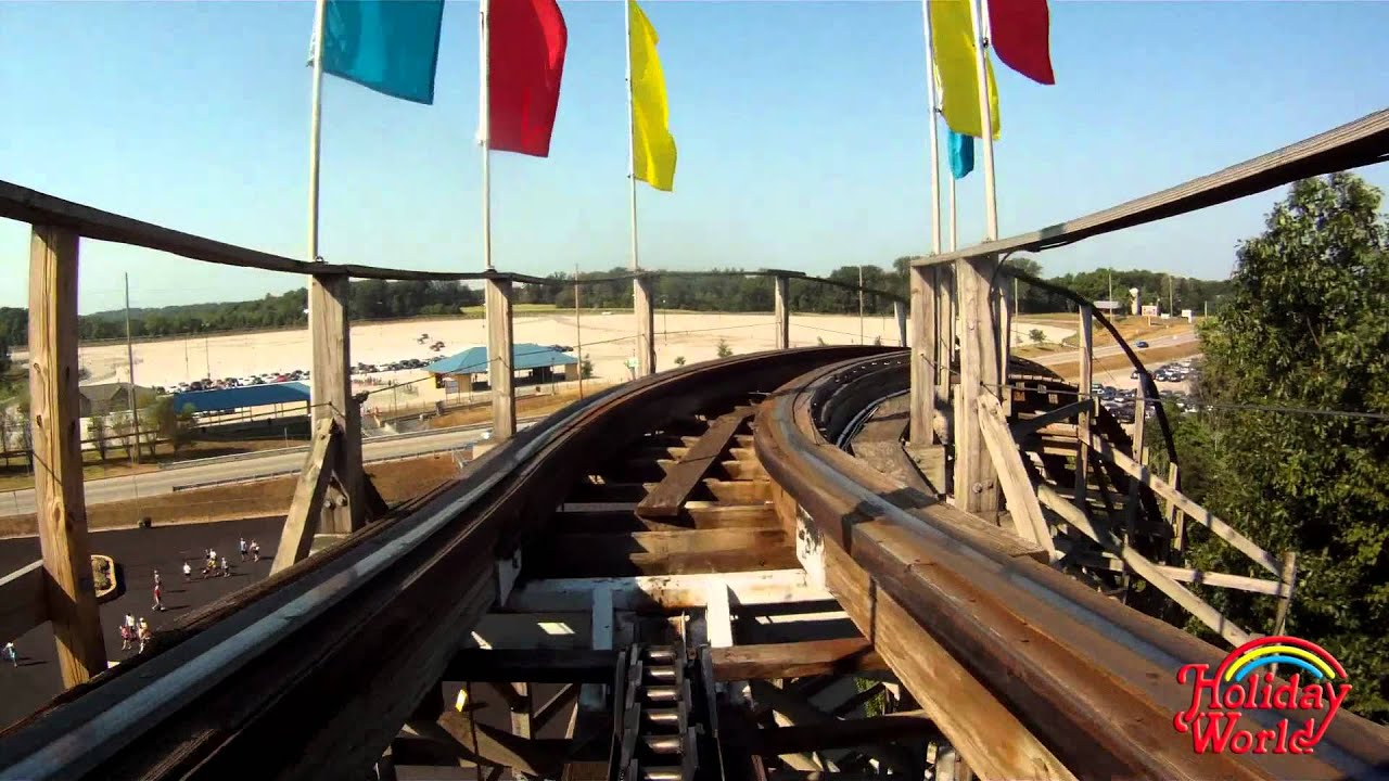 Holiday worlds raven wooden roller coaster pov in hd youtube holiday worlds raven wooden roller coaster pov in hd gumiabroncs Images
