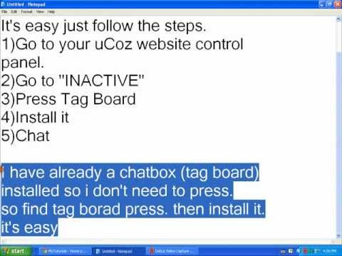 How To Add Chatbox To Your UCoz Website Tutorial #2