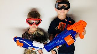 Brothers Have Nerf War Who Wins!? Battle