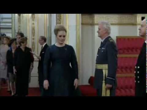 Adele at Buckingham Palace receiving her MBE December 19, 2013!