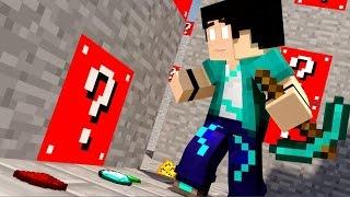 Minecraft - LABIRINTO COM LUCKY BLOCK VERMELHO!! #1