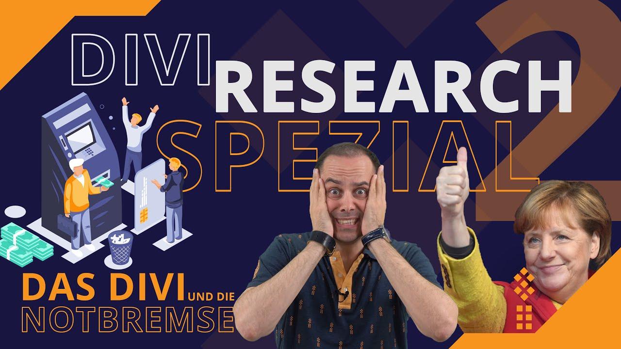#DIVI #RESEARCH SPEZIAL 2 - Das #DIVI und die #Notbremse: #Zahlenbetrug? #Merkel auf dünnem Eis?