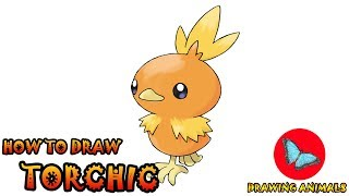 How To Draw Torchic Pokemon | Coloring and Drawing For Kids