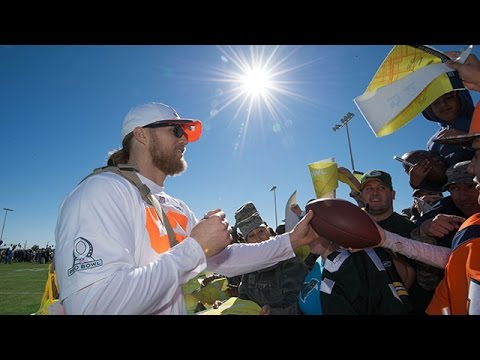 Clay Matthews wired at Pro Bowl practice