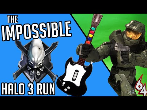 I beat Halo 3 Legendary with a GUITAR HERO CONTROLLER