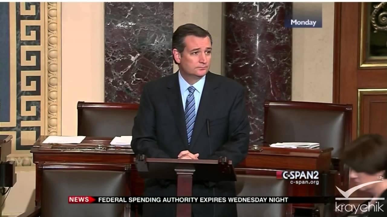 Ted Cruz Speech Cut Off By Senators Senate Floor 9 28