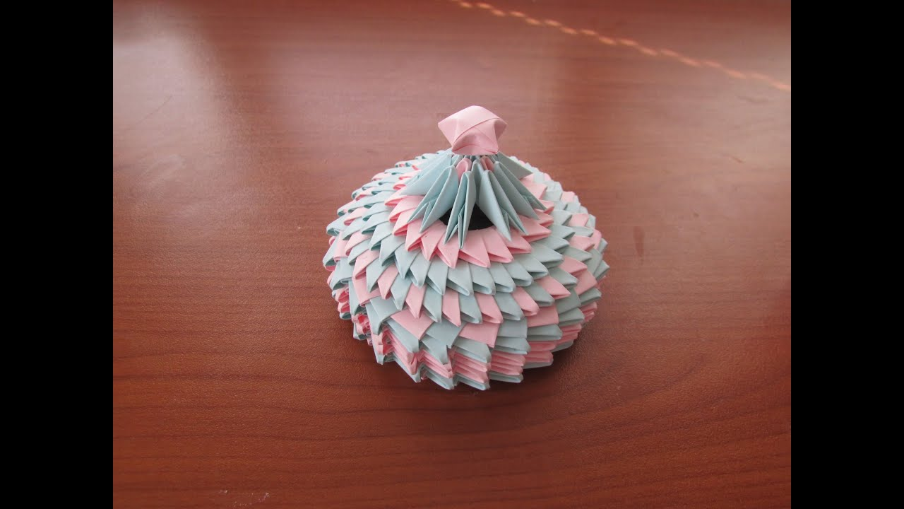 3D Origami Small Jewellery Box Tutorial 2