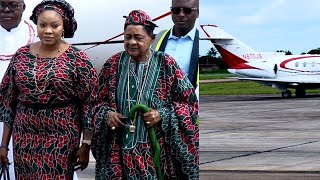 ALAAFIN OYO FLEW TO BENIN WITH HIS PRIVATE JET TO CELEBRATE GABRIEL IGBINEDION 85TH BIRTHDAY