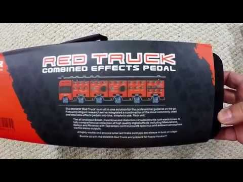 Mooer Red Truck multi effects pedal unboxing and quick demo. PRS S2 Friedman Runt 20