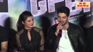 Jacqueline Fernandez  & Sooraj Pancholi   at the launch of song 'GF BF'