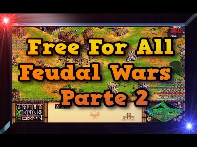 Age of Empires 2 HD FFA Free For All 8 players Feudal War Green Arabia Parte 2 AoE2HD Gameplay