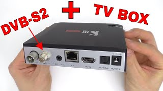 ⚡СПУТНИКОВЫЙ ТЮНЕР И TV BOX 2in1 MECOOL KIII PRO Hybrid DVB TV Box