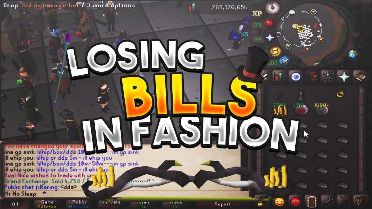 Losing Bills In Fashion with Mr No Sleep