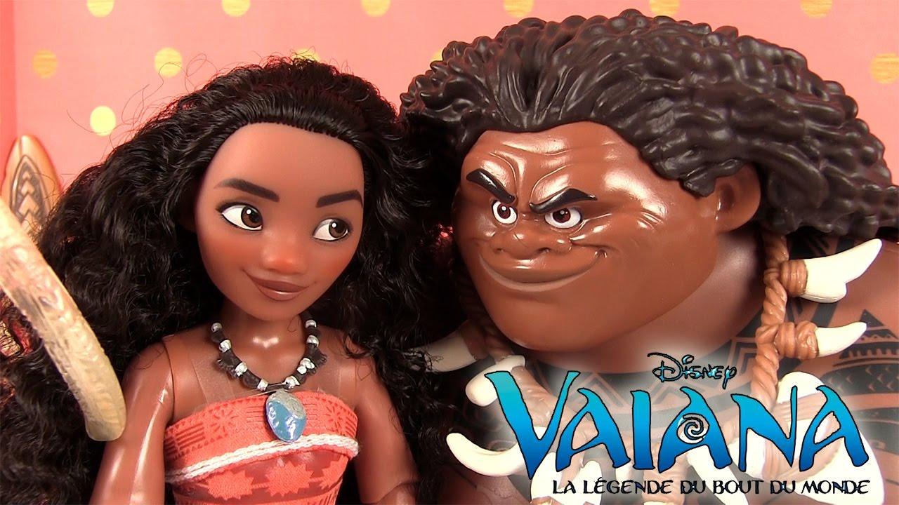 Du Légende Poupée Store Figurines Vaïana Bout Disney Monde Maui XTOZiwPku